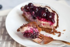 Ripe Blueberry and Nutella Cream Pie with Gingersnap Crust