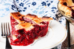 Ripe Raspberry Pie with Buttery Flaky Crust