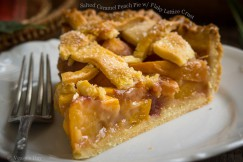 Salted Caramel Peach Pie with Flaky Lattice Crust
