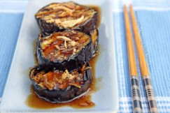 Savory Grilled Eggplant in Garlic Oyster Sauce
