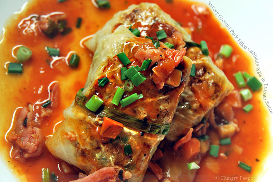 how to make cabbage rolls with ground pork