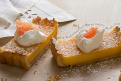 Silky, Bright Grapefruit Tart with Buttery Almond Crust
