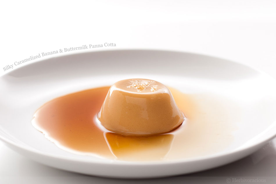 Silky Caramelized Banana and Buttermilk Panna Cotta
