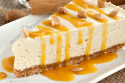 Silky Chai Cheesecake with Luscious Pumpkin Butterscotch Sauce