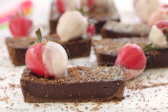 Silky Chocolate Strawberry Tart with White Chocolate Dipped Strawberries