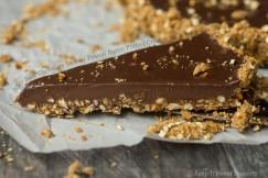 Silky Milk Chocolate Tart with Peanut Butter Pretzel Crust