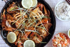 Singapore Style Crab Sauteed in Sweet Chilli Sauce