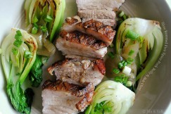 Slow Roasted Five Spice Pork Belly and Bok Choy