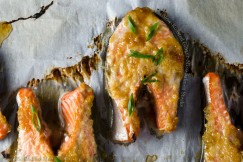 Slow-Roasted Ginger-Miso Salmon Steaks