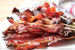Smokey, Salty, Sweet Apricot Thyme Glazed Bacon