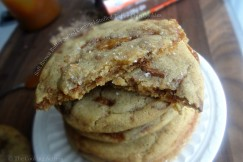 Soft Brown Butter Salted Caramel Stuffed Toffee Chip Cookies