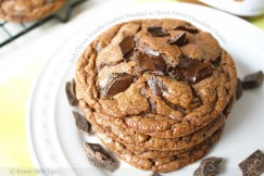 Soft Chewy Nutella Cookies Studded with Semi-Sweet Chocolate Chunks