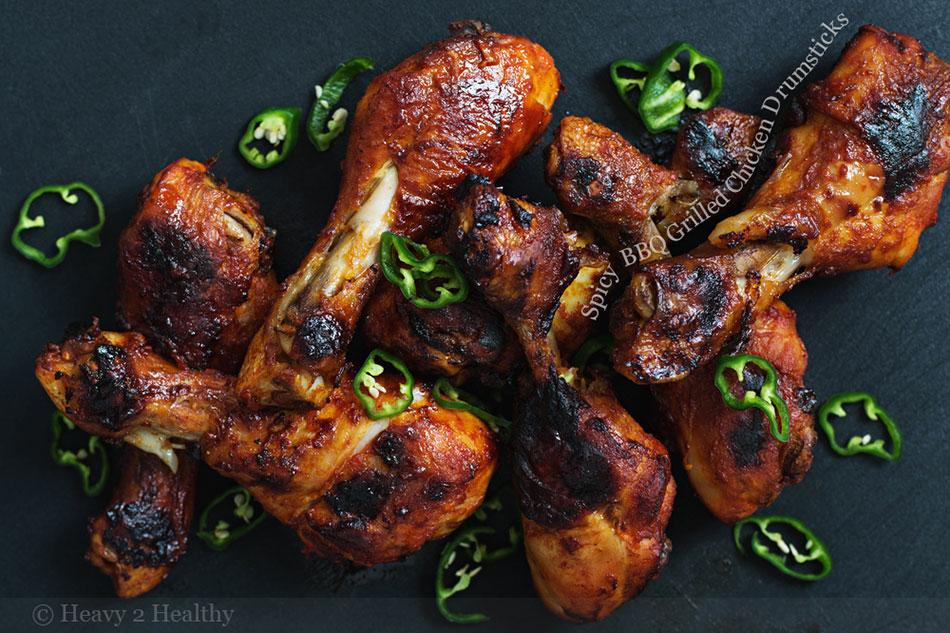 Spicy BBQ Grilled Chicken Drumsticks