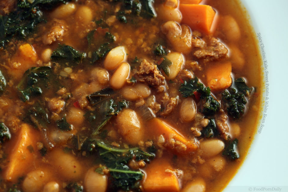 Spicy Chorizo, Kale, Sweet Potato and White Bean Soup ...