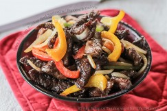 Spicy Fragrant Bombay Beef Sauteed with Peppers and Onions