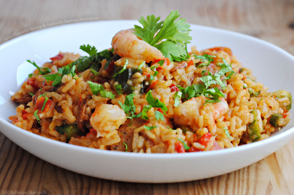 Spicy Flavorful Shrimp and Andouille Sausage Jambalaya