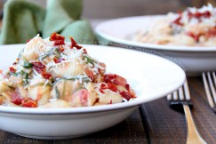 Spinach and White Bean Pasta with Sun-Dried Tomatoes and Parmesan