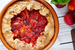 Strawberry and Nectarine Galette with Flaky Pastry Crust