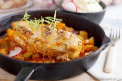 Succulent Chicken Baked with Eggplant, Zucchini and Tomato