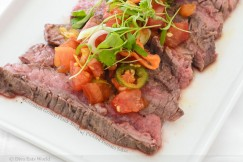 Succulent Grilled Flank Steak with Pickled Tomato Salsa