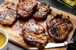 Succulent Grilled Pork Loin Chops with Lemon Vinaigrette
