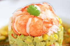 Succulent Lobster, Avocado and Chickpea Salad with Lime Cilantro Vinaigrette