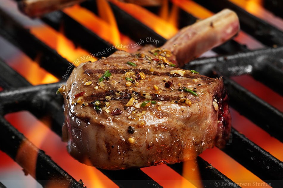 Succulent Marinated Frenched Lamb Chop