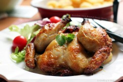 Succulent Oven-Roasted Honey Mustard Poussin