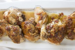 Succulent Roasted Chicken Smothered in a Tangy Lemon, Pancetta, Garlic and Rosemary Sauce
