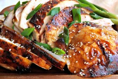 Succulent Roasted Sesame Soy Glazed Turkey Breast