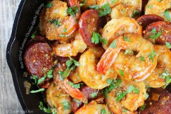Sun-Dried Tomato Chorizo Garlic Shrimp