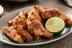 Sweet and Spicy Lemongrass Marinated Chicken Wings