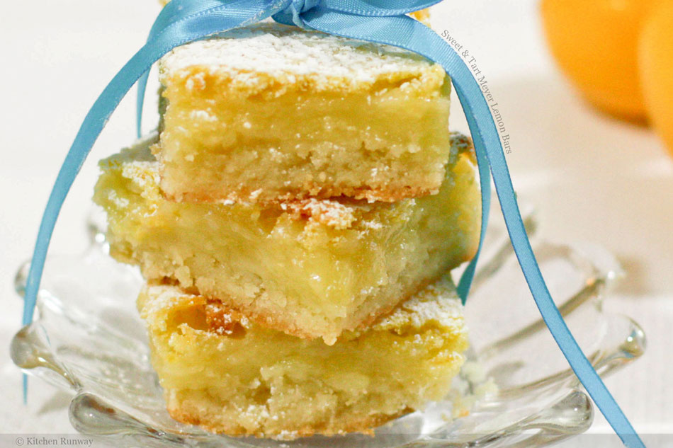 Sweet and Tart Meyer Lemon Bars