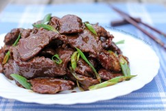 Sweet, Savory Mongolian Style Stir-Fry Beef