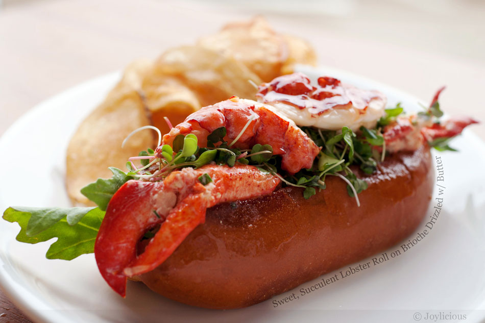 Sweet, Succulent Lobster Roll on Brioche Drizzled with Butter