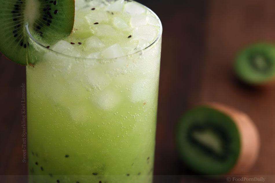 Sweet-Tart Sparkling Kiwi Limeade
