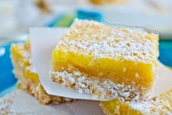 Tart Lemon Bars with Coconut Shortbread Crust