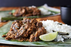 Tender Aromatic Beef Rendang with Fluffy Coconut Rice