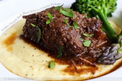 Tender French Beef Short Ribs with Creamy Polenta