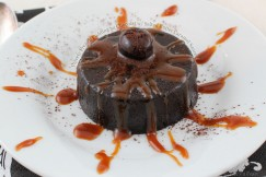 Velvety French Pudding au Chocolat with Salted Butter Caramel Sauce