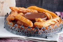 Warm Churros with Chocolate Coffee Sauce
