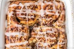 Warm Gooey Cinnamon Roll French Toast Bake