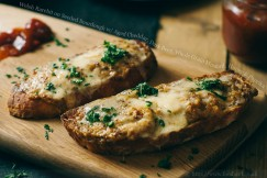 Welsh Rarebit on Seeded Sourdough with Aged Cheddar, Dark Beer, Whole Grain Mustard, Honey and Paprika
