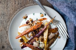 Za�atar Roasted Carrots and Cauliflower with Salted Yogurt