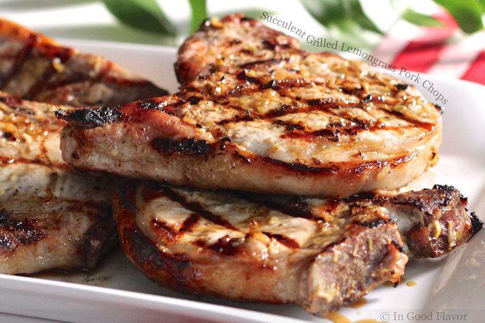 Succulent Grilled Lemongrass Pork Chops